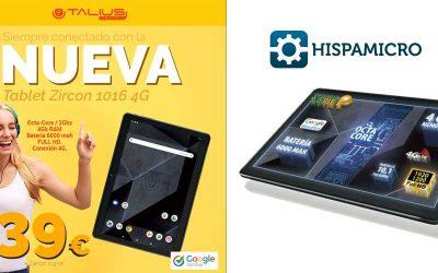 Novedad Tablet Zircon 1016 4G en Hispamicro