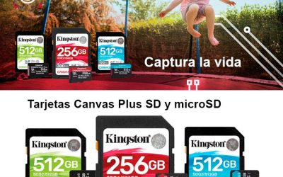 Captura la vida con las tarjetas Canvas Plus SD de Kingston