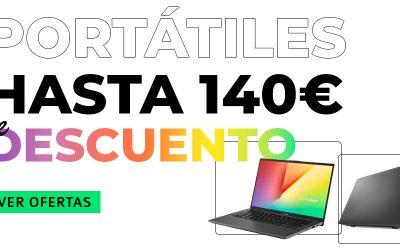 Hasta 140 euros de descuento en portátiles