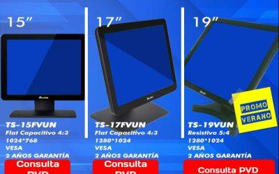 Oferta monitores táctiles Mustek en Posiflex