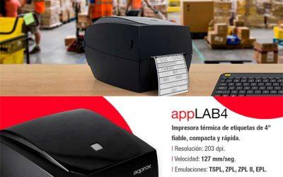 Novedad impresora térmica de etiquetas Approx appLAB4