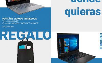 Lenovo te los llevas donde quieras con mochila incluida