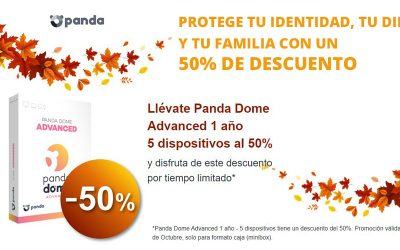Antivirus Panda Dome Advanced al 50% descuento