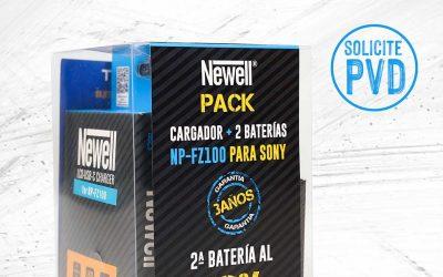 Newell cargador doble +2 baterias NP F100