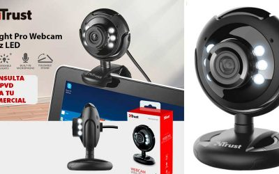 Spotlight Pro webcam con LED de Trust